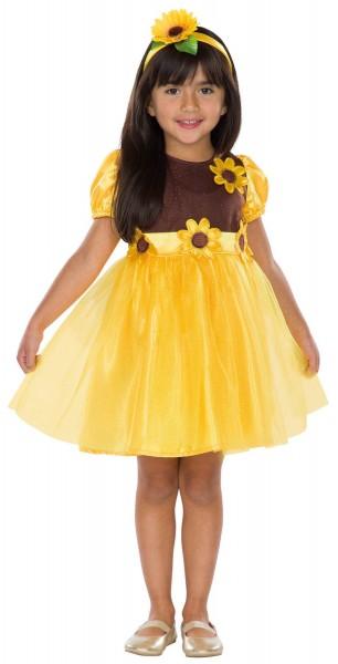 Sonnenblümchen Blume gelb mit Haarreif Kinder Karneval Fasching Kostüm 104-128