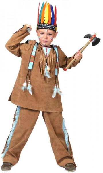 Indianerjunge Anoki Indianer Kinder Karneval Fasching Kostüm 116-140