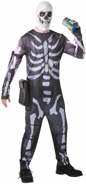Skull Trooper Fortnite Computer Spiel Game Kinder Karneval Fasching Kostüm 44-54