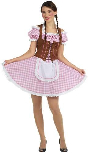 sexy Dirndl Oktoberfest Bayern Tracht Trachtenkleid Karneval Kostüm 32-50