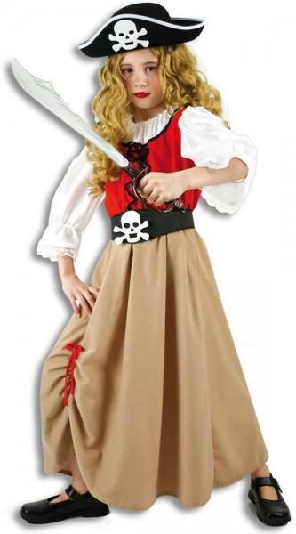 Piratenmädchen Pirat Piratin Kinder Karneval Fasching Kostüm 116-152