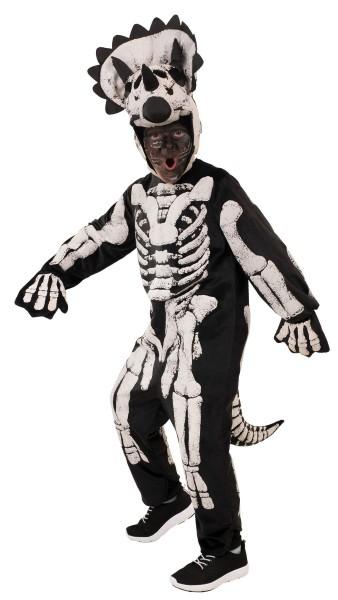 Overall Skelett Triceratops Dino Mütze Kinder Halloween Karneval Kostüm 128-152