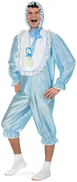 Baby Doll blau Pyjama Junggesellenabschied Karneval Fasching Kostüm 44-54