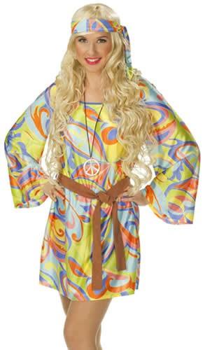 Hippie Karneval Fasching Kostüm Gr 36-48