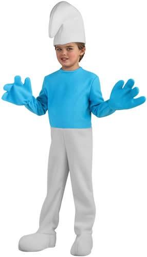 Schlumpf Deluxe Kinder Karneval Fasching Kostüm S-L