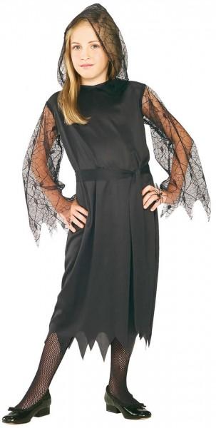 Halloween Kinder Kostüm Gothic Lage Vampir Spinne Gr. 116-152