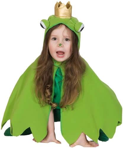 Frosch Cape Froschumhang Umhang Kinder Karneval Fasching Kostüm 92-104