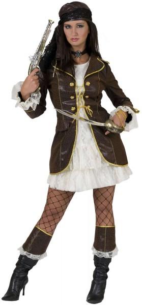 Sexy Piratin Jane Pirat Karneval Fasching Kostüm 36-46