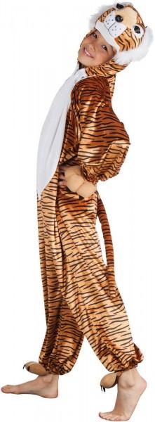 Tiger Plüsch Overall Kinder Karneval Fasching Kostüm 116-140