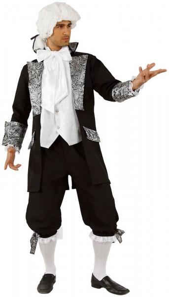 Baron Barock Rokoko Hose Gehrock mit Weste Jabot Karneval Fasching Kostüm 44-62