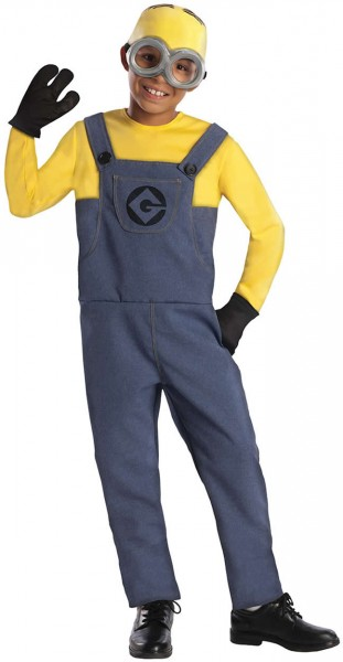Minion Dave Kinder Karneval Fasching Kostüm Gr. 116-128