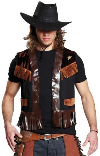 Deputy-Weste Cowboy Karneval Fasching Kostüm Gr 48-58