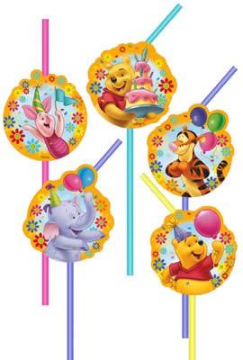 Riethmüller 10 Trinkhalme Geburtstag Winnie Pooh
