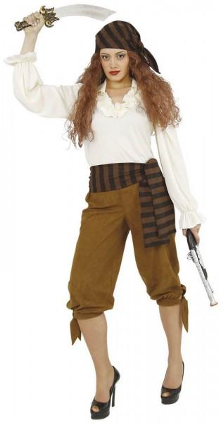 Piratenbluse Piratin Damen Karneval Fasching Kostüm weiß 36-54