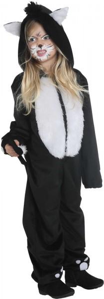 Black Cat Katze Kinder Karneval Fasching Kostüm 104-128