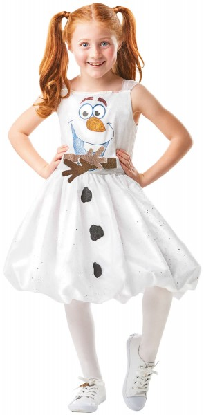 Frozen 2 Olaf Air Motion Kleid Die Eiskönigin Kinder Karneval Kostüm 104-128